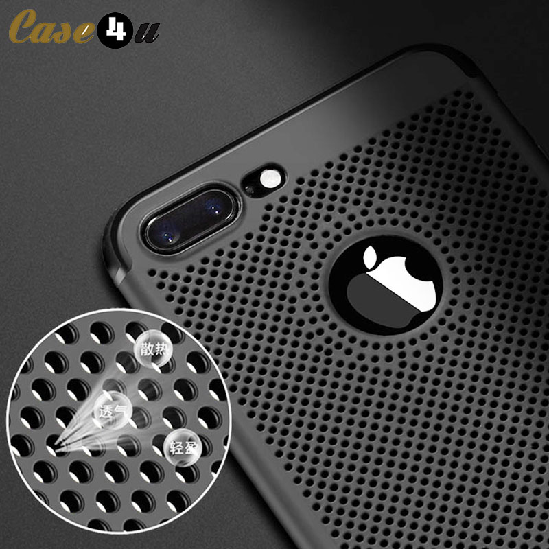 Cooling Breathing Mesh Case Cover for iPhone 7 Phone Cases S