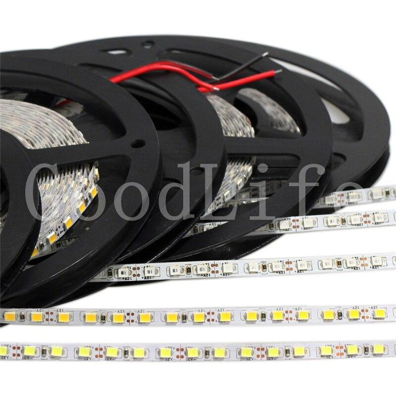 5mm narrow width DC12V LED strip 2835 120led/m 5Meters Flexible strip Light White,Warm white,Blue,Green,Red IP20 No waterproof