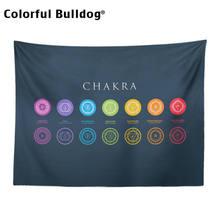 Tecido decorativo para local de meditação com chakras