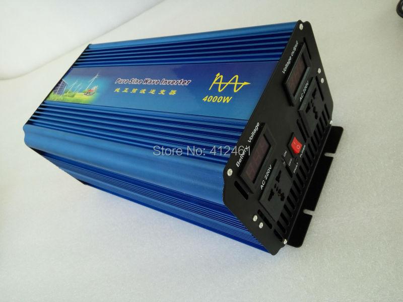 DC 12 V ou 24 V 220 V onde sinusoïdale Pure 4000 W crête 8000 W pur onduleur à onde sinusoïdale à 110 ou 220 V ~ 240 V AC haute qualité livraison gratuite