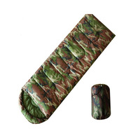 Sleeping Bag Breathable Military Envelope Camouflage Outdoor Camping Hiking Travelling Sleep Bags For Adult