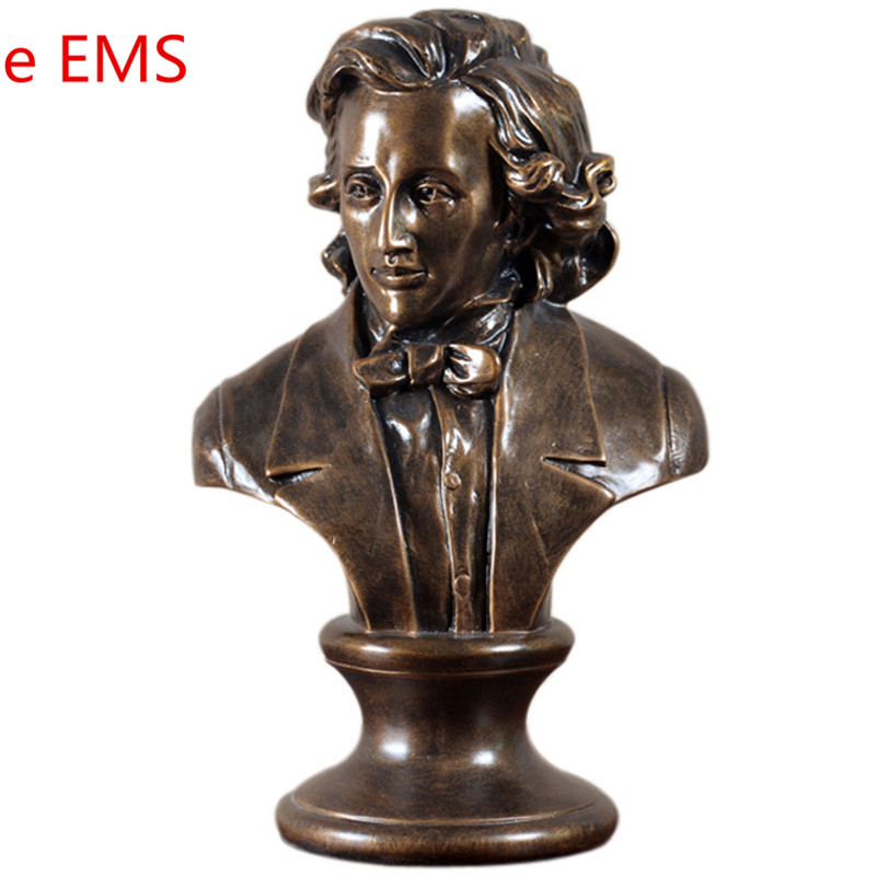 Retro Music Fryderyk Franciszek Chopin Bust Piano Concerto Statue Colophony Crafts Sketch Teaching Collectible Decorations L2353Retro Music Fryderyk Franciszek Chopin Bust Piano Concerto Statue Colophony Crafts Sketch Teaching Collectible Decorations L2353