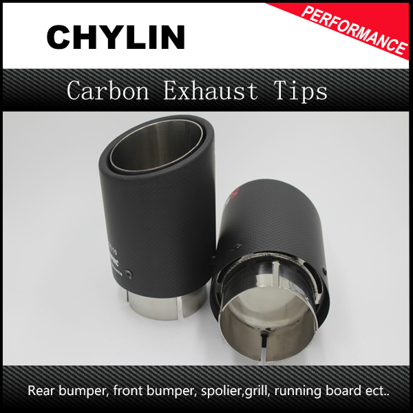 2Pcs AK Racing Carbon Fiber Exhaust Tip ID:63mm OD:89mm Universal 304 Stainless Steel End Pipe Exhaust Tail Pipe