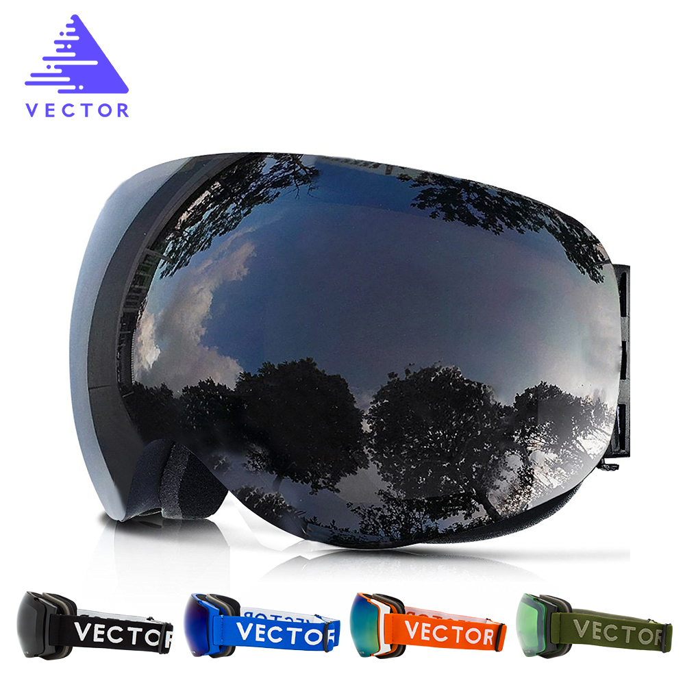 New Ski Goggles Big Double Lens UV400 Anti-fog Ski Mask Glasses Skiing Professional Men Women Snow Snowboarding Goggles new copozz brand professional ski goggles double lens uv400 anti fog big spherical ski glasses skiing men women snow goggles