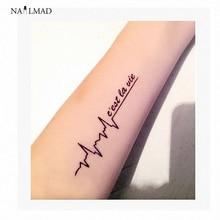 1 Sheet NailMAD Black Letter Waterproof Temporary Tattoo Flash Tattoo Decals Body Art Tattoo Sticker Y146