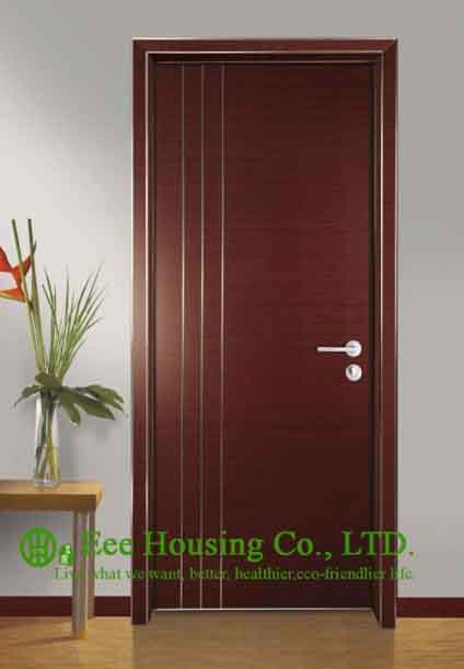 Simple Style Aluminium Office Doors, Aluminum Alloy Water Resistance Interior Office Door