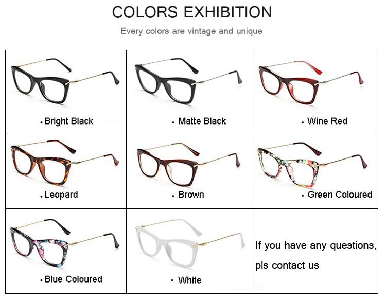 7a9f179924 2019 DRESSUUP Fashionable Cat Eye Eyeglasses Frame Women Sexy Floral ...