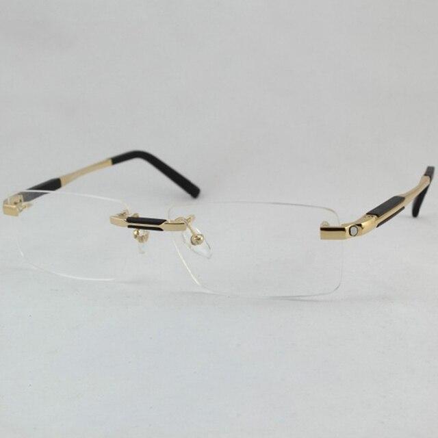 100% Чистый Titan Очки Серебряный Пистолет Серый Золота Высшего Качества Gafas Мужчины Titanium Очки Рамки Бренда Оптический Очки
