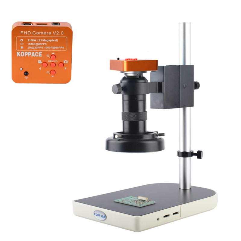 <font><b>100X</b></font> 21 Million Pixel Electron HDMI <font><b>USB</b></font> HD Video <font><b>Microscope</b></font> Camera LED Ring Light Mobile Phone Maintenance Digital <font><b>Microscope</b></font> image