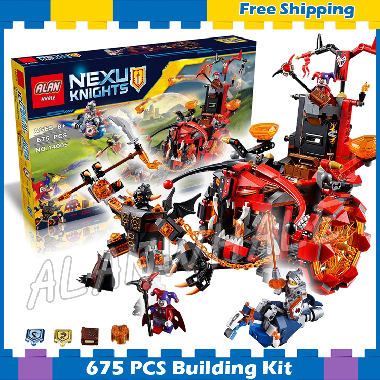 675pcs New Knights Jestro's Evil Mobile Chariot The War Wagon 10489 Model Building Blocks Gifts sets Nexus Compatible With Lego купить mitsubishi cedia wagon москва