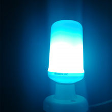 E27 LED bulb Dynamic Flame Effect Corn lamp with blue Emulation Fire Burning Flicker Bulb light E26 Lamp