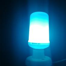 E27 LED bulb Dynamic Flame Effect Corn lamp with blue Emulation Fire Burning Flicker Bulb light E26 Lamp