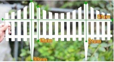 free white plastic fence parterre garden nursery garden decoration