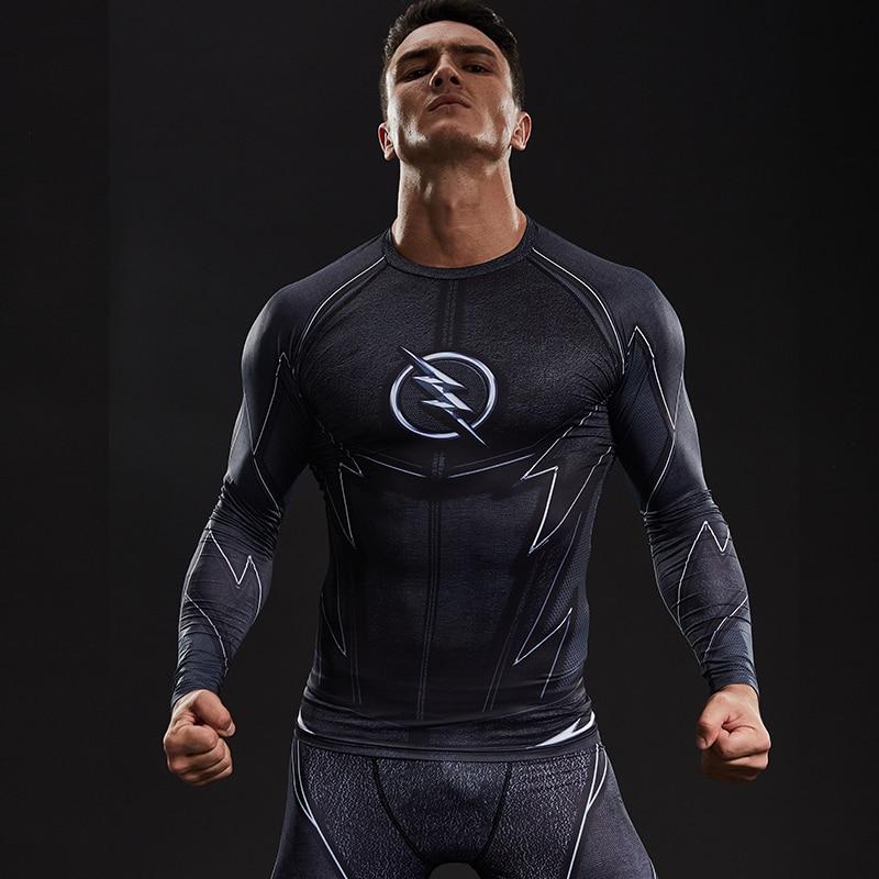 1c40ac28ea392 ZOOM 3D impreso camisetas hombres Raglan Long Sleeve Compression camisa  Flash Comics Cosplay traje fitness ropa Tops hombre en Camisetas de La ropa  de los ...