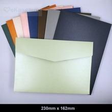 25 adet 230x160mm (9x6.2 inç) Kalınlaşmak Inci Kağıt Zarflar Renk Davetiye Hediye Zarfları