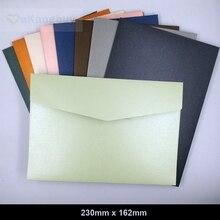 25 pcs 230x160mm (9x6.2 אינץ) לעבות פרל נייר מעטפות צבע הזמנה מתנת מעטפות