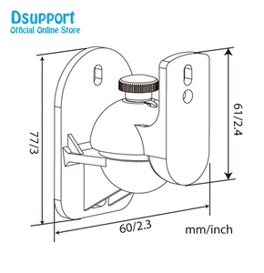 Image 5 - 送料無料 (1 ペア) s03 高品質ユニバーサルサラウンドスピーカー壁ブラケットマウントチルトスイベルホルダースタンドロード 5kgs