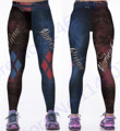 Print Harley Quinn Yoga Pants Women Costume The Batman Harley Quinn Running Leggings Blue Red Diamond Fitness Tights High Waist