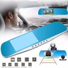 Night Vision Car Dvr Detector Camera Blue Review Mirror DVR Digital Video Recorder Auto Camcorder Dash Cam FHD 1080P