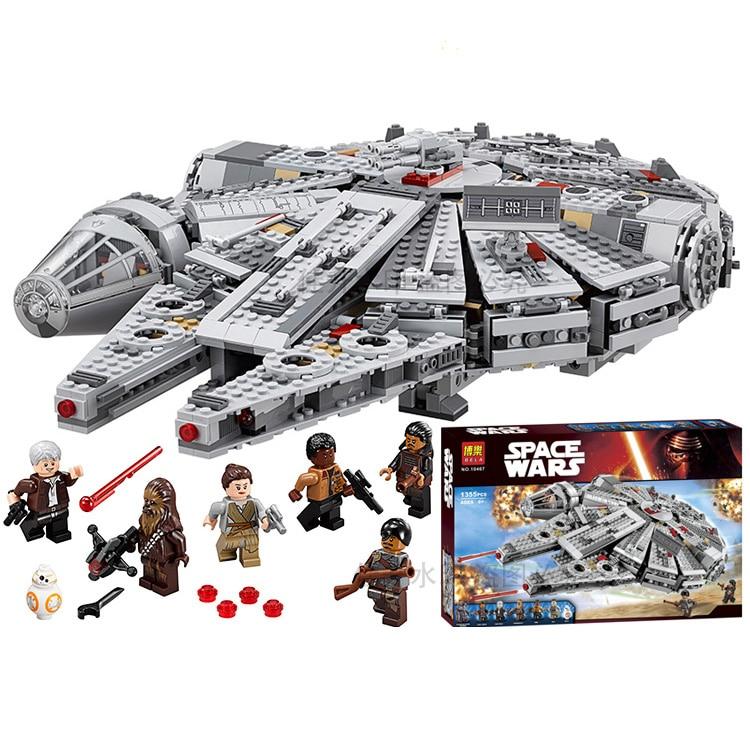 Pogo Lepin Space Ship Millennium Falcon Star Wars Building Blocks Bricks Toys Compatible Wtih Legoe 8 in 1 military ship building blocks toys for boys