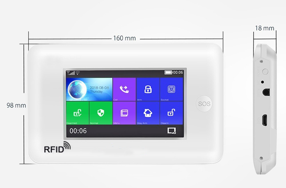 YobangSecurity Wireless WIFI GSM Home Alarm System Android IOS App Video IP Camera Smart Home Burglar Security Fire Alarm KIT - 3
