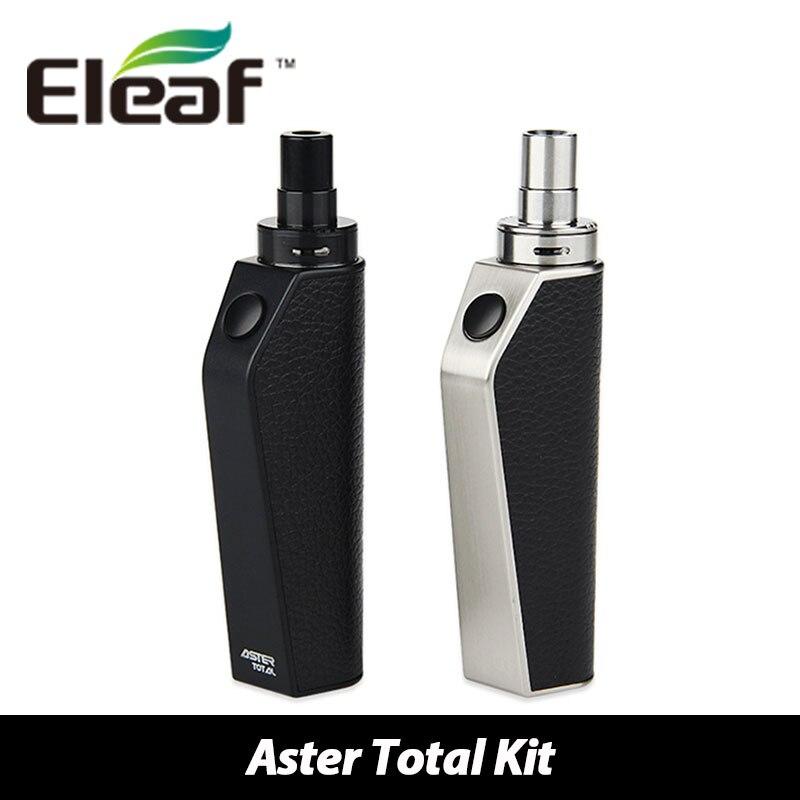 100% Original Eleaf Aster Total Kit Internal Battery 1600mAh Aster Total Mod 25W / IC Head 1.1ohm 2ml Electronic Cig Vs Ijust S