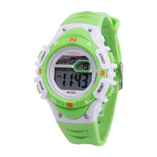 Multi Function Alarm Clock Student Waterproof Sports Fashion Electronic Watch Child Watch Waterproof Silicone #4a11(China)
