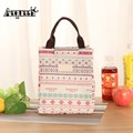 2017 New Fashion Portable Women Canvas lunch Bag Totes Insulated Picnic Fringe Cooler Lunch Box Bag Tote for Women kids Men