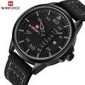 2016 Luxo Marca NAVIFORCE Data relógio de Quartzo Homens Esportes Militares Relógios de Pulso de Couro Casual Relógio Masculino Relogio masculino