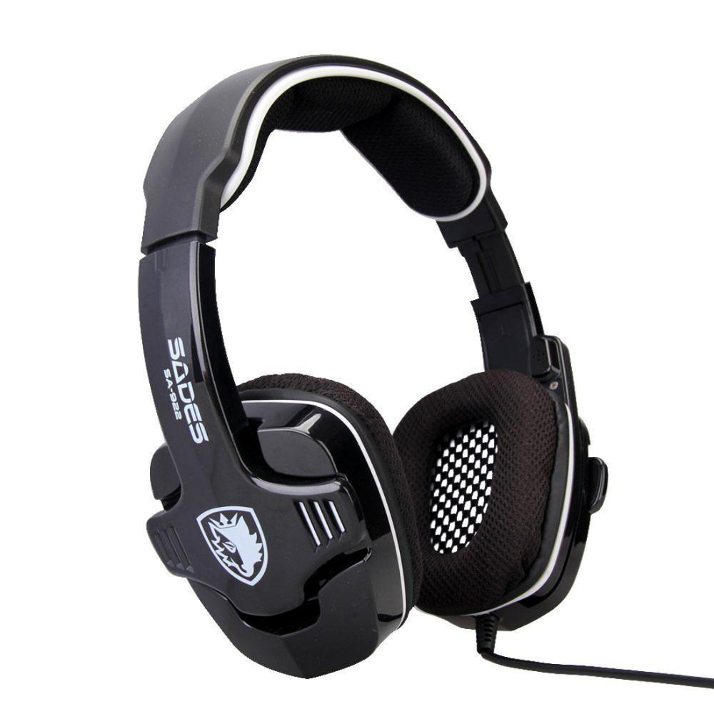 ФОТО Sades SA-922 7.1 Surround Sound Effect USB Gaming Headset Headphone Casque Game Fone De Ouvido Gamer Auriculares for PS3/XBOX/PC