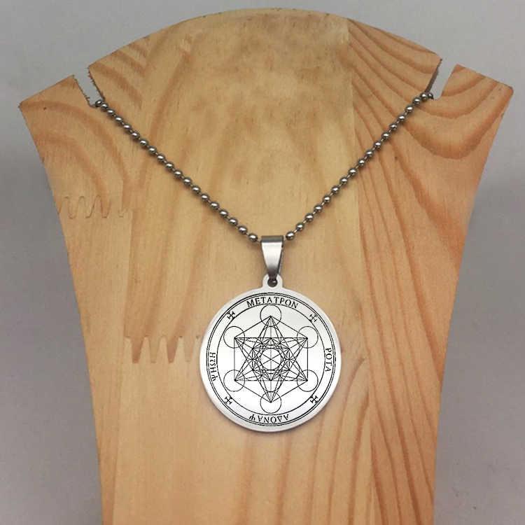 Uszczelki archanioł długi naszyjnik koraliki łańcuszek dysk anioł naszyjniki biżuteria najlepszy prezent dla mężczyzn i kobiet YP6713