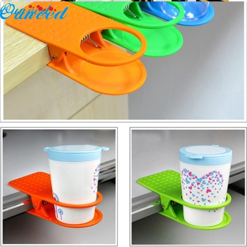 Ouneed Happy Home Office Home Drink Coffee Water Cup Holder Mug Rack Cradle Stand Clip Desk Table 1 Piece creative mini table golf entertainment coffee mug 300ml for office
