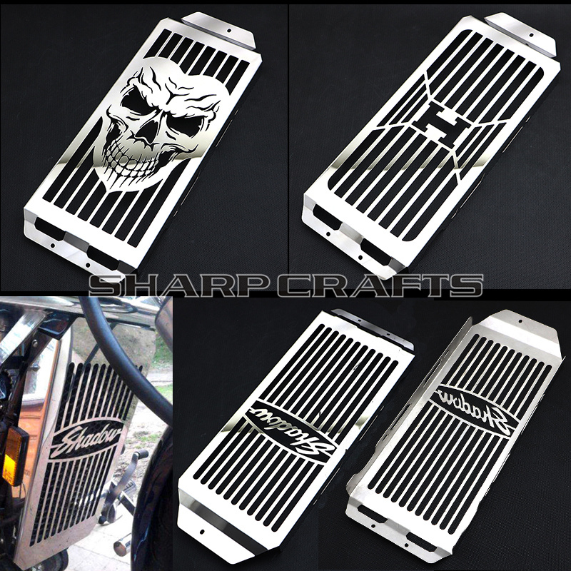 Honda Shadow 750 >> 2004 2014 Top Quality Steel Chrome faced Radiator Grill Cover Guard Protector For Honda Shadow ...