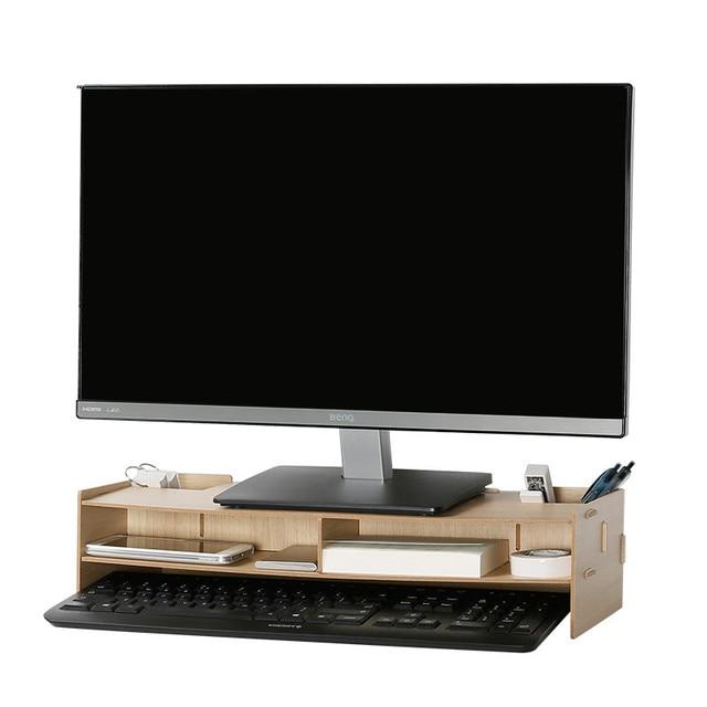 деревянный офисный стол органайзер для шеи защитный компьютер монитор более высокий держатель настольный стеллаж для хранения для стационарныхразное
