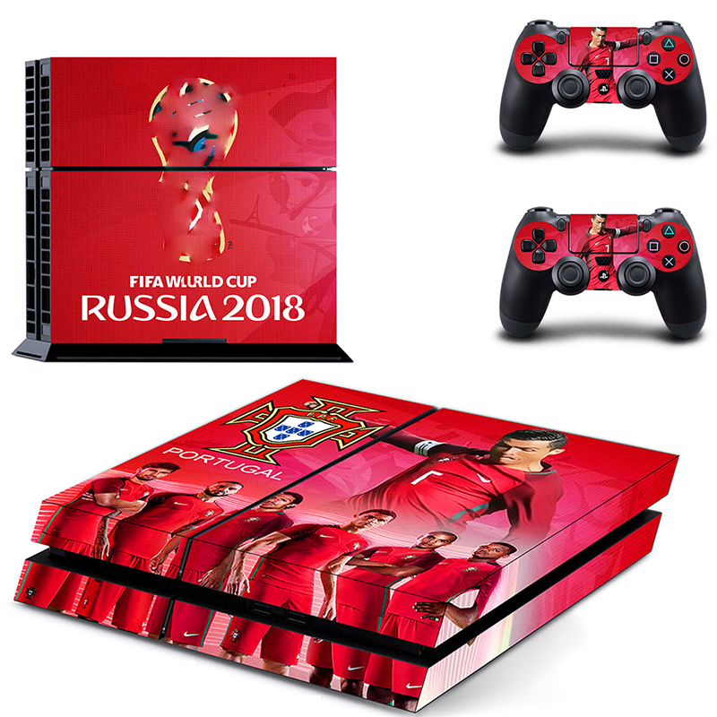 Image 2 - HOMEREALLY Stickers 2018 RU world cup PS4 Skin Cover For Sony PlayStation 4 Console and Controller Skin Ps4 Accessory Sticker-in Stickers from Consumer Electronics