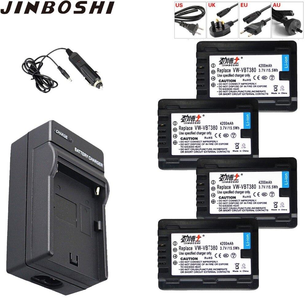 4x vw-vbt380 VW-VBT380 Li-ion Battery 4200mAh pack with Single Charger for PANASONIC HC-V180GK HC-V380GK HC-W580GK HC-W580MGK4x vw-vbt380 VW-VBT380 Li-ion Battery 4200mAh pack with Single Charger for PANASONIC HC-V180GK HC-V380GK HC-W580GK HC-W580MGK