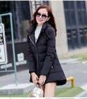 2018 nouvelle offre spéciale grande taille parkas avec chapeau noir bleu marine gris rouge manteaux vestes d'hiver pour les femmes - 4