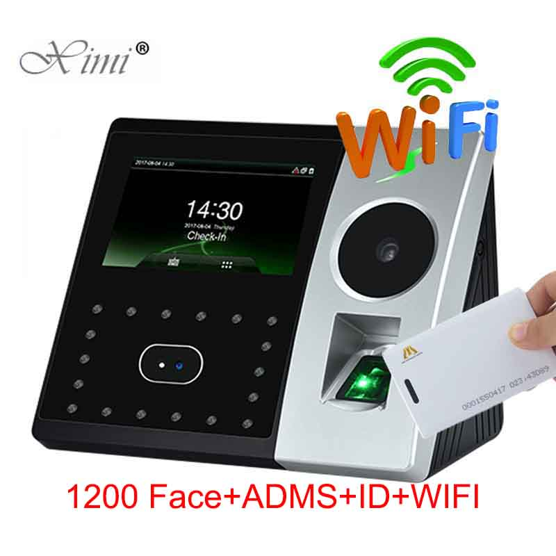ZK Pface202 1200 Face Capacity Time Attendance WIFI TCP/IP Bimetric Palm And Fingerprint Door Access Control System With ADMS