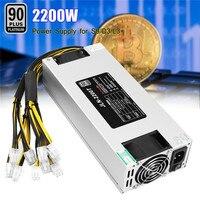 93 PLUS 110V 1600w 230V 2200W BTC ETH Mining Power Supply PCI 6PIN 10 For AntMiner