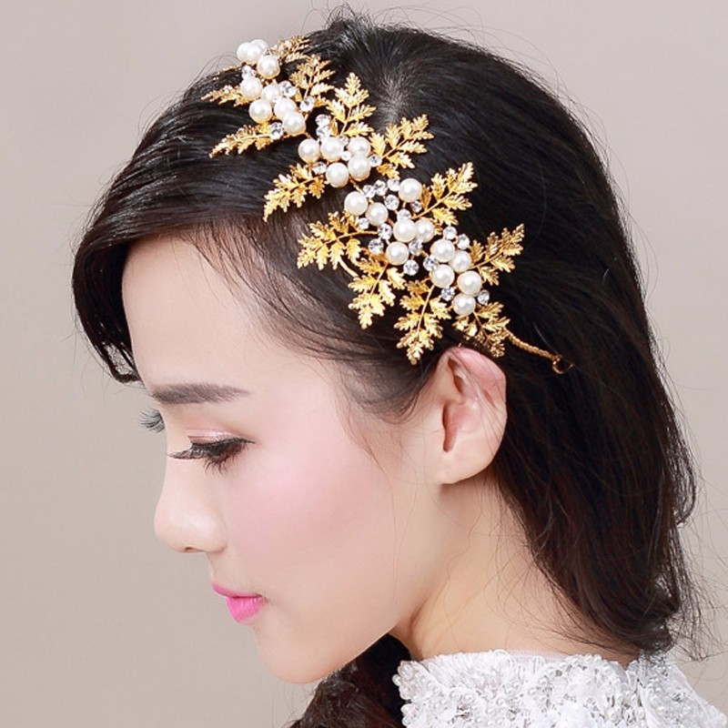 Bridal Hair Jewelry Crystal...