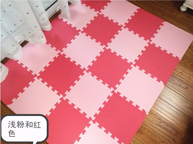 New 10 Sqft Pink FOAM MATS Exercise GYM Puzzle Soft Floor Kids Play Room