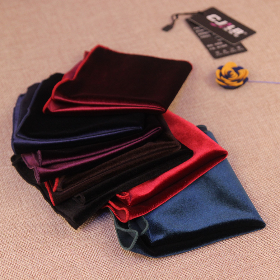 Men's Wedding Party Suit  Handkerchiefs Pocket Squares Pleuche 23x23cm 30pcs/lot