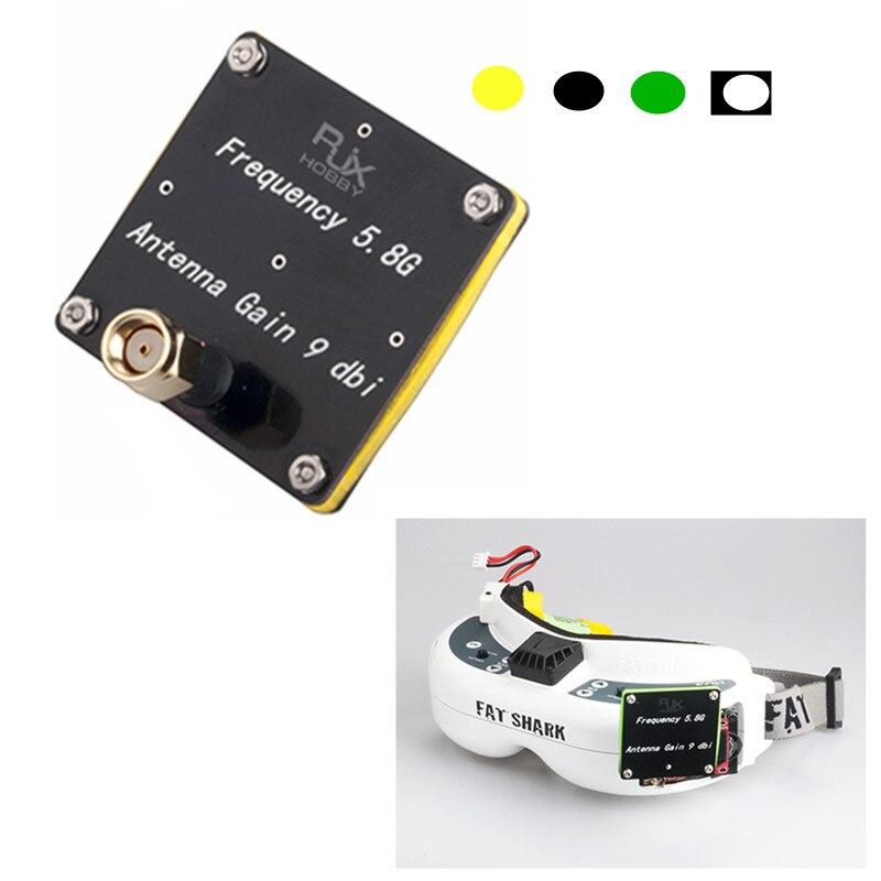 RX плоский патч-антенна RJX 5,8G 9dBi с высоким коэффициентом усиления 90 градусов FPV приемник RX плоская патч-антенна RP-SMA (SMA) папа для FPV гоночного др...