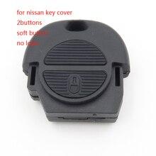 1 шт. болванка ключа 2 кнопки дистанционного ключа дело брелок shell обложка для nissan с Доставкой в 12 часа