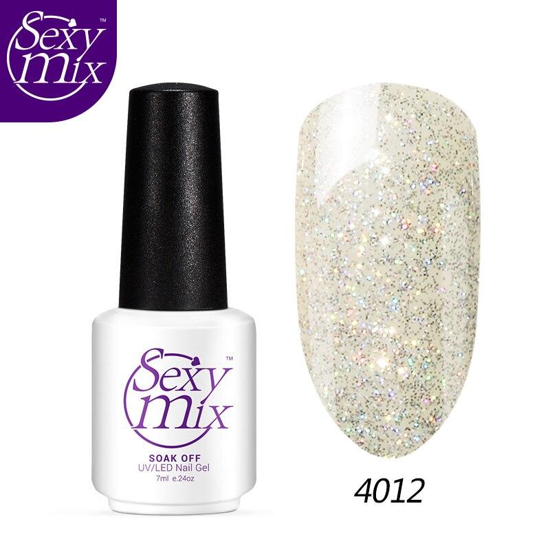 ≧Sexymix 7 ML Natural Non toxic Nail Gel Polish Beautiful Glitter ...