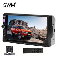 SWM 2 Din Car Radio Cassette Player 7 2din Mirror Link Audio Reverse Camera MP5 1080P Steering Control Stereo