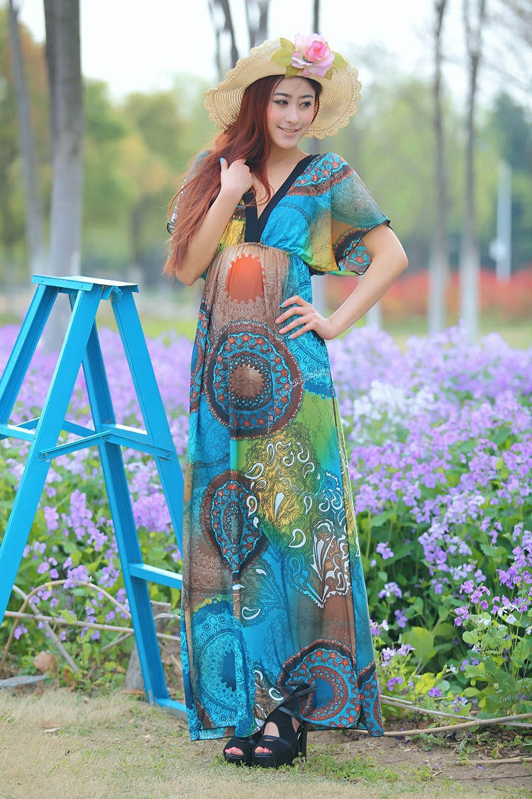 Plus Size Maxi Dress Beach
