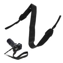 Регулируемый ремень для камеры DSLR черный для Canon Nikon для видеокамеры Sony DC плечевой ремень для шеи