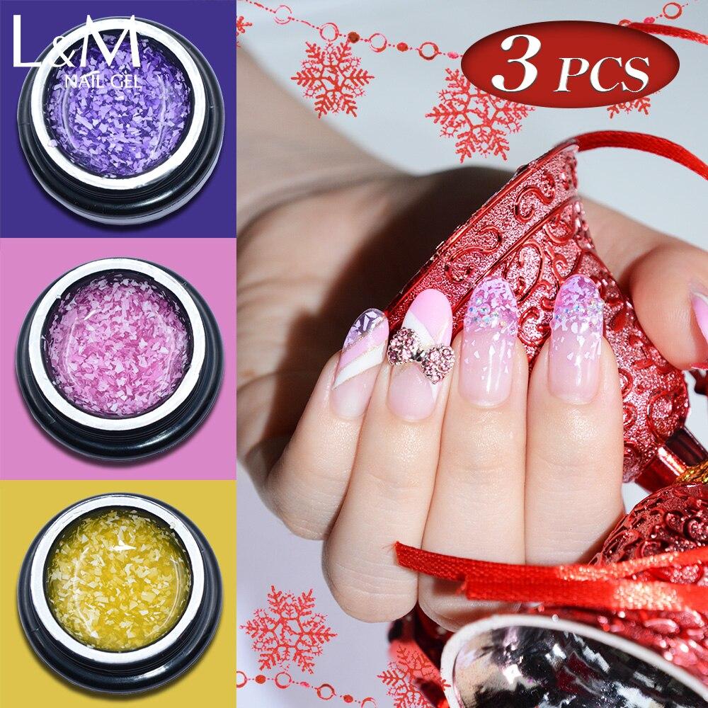 3pcs Novi proizvod Lvmay Brand Pahuljica Besplatna dostava UV / LED - Manikura