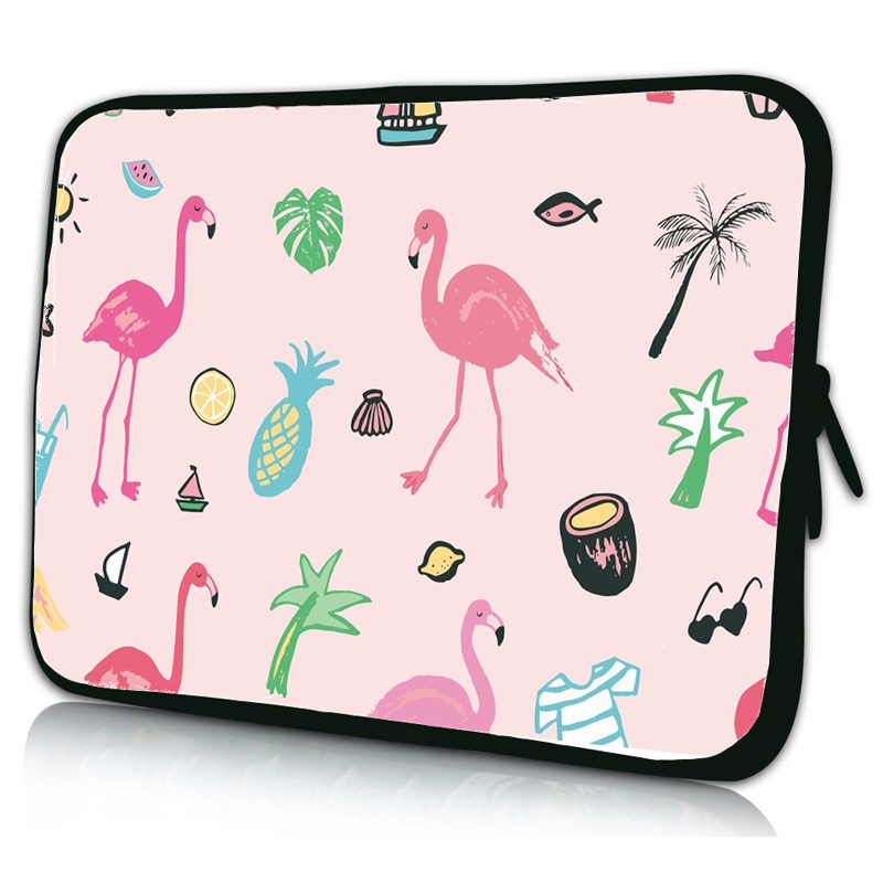 Notebook Laptop Bags & Cases 10 10.1 12 13 14 15.4 15.6 17 Cute Flamingo Neoprene Slim Briefcase Tablet Shell Pouch Bag For iPad